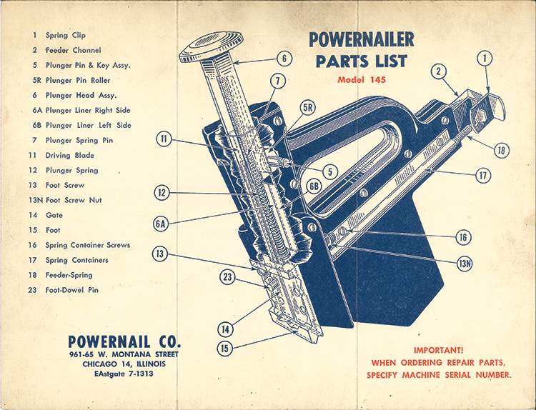 Powernail Model 145