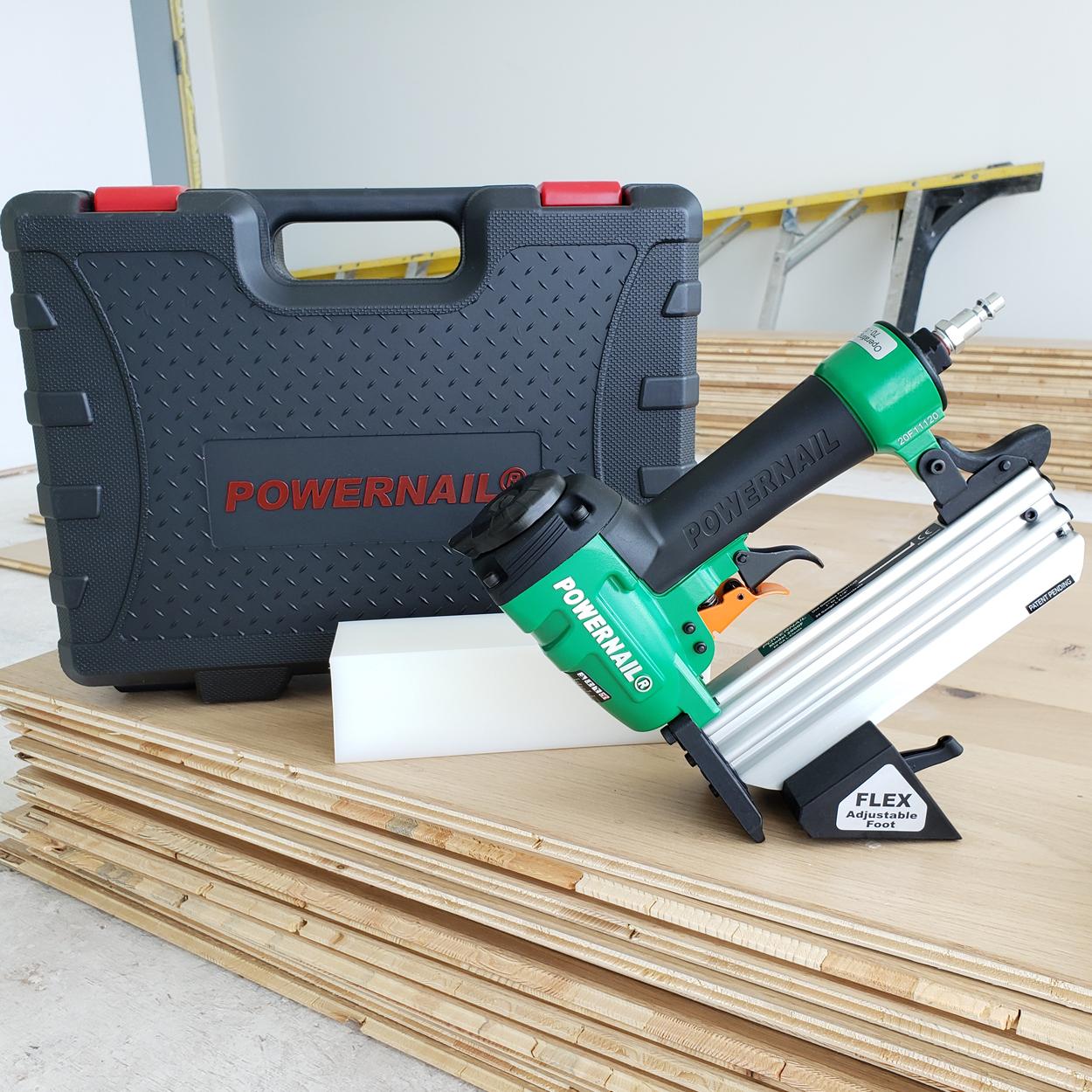 Powernail Model 2000F 20-gauge flooring nailer - engineered flooring