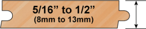 20 Gauge Wood Profile
