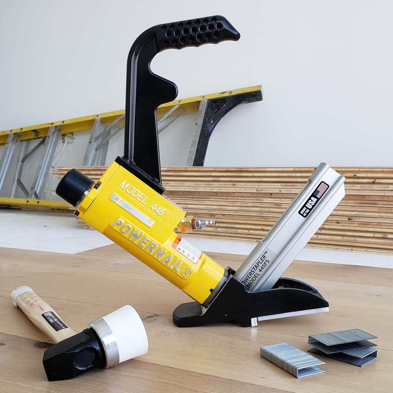 Powernail Model 445FS 15.5 Gauge Hardwood Flooring Stapler