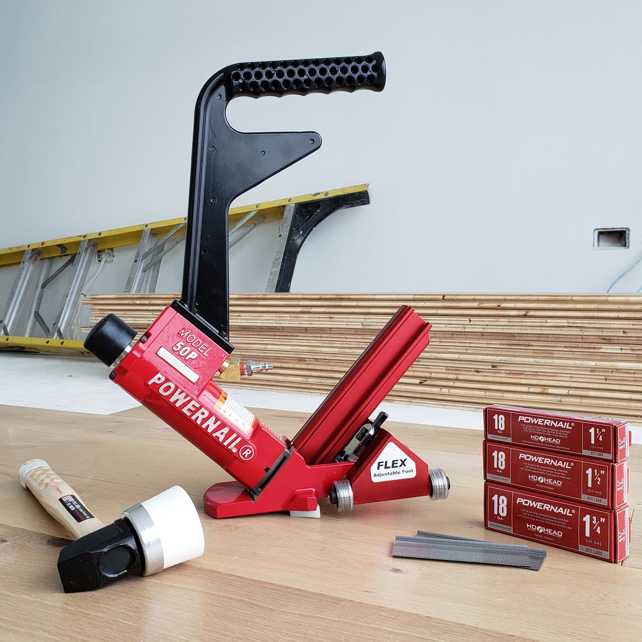 Powernail Model 50P FLEX Power Roller18-Gauge Pneumatic Hardwood Flooring Nailer