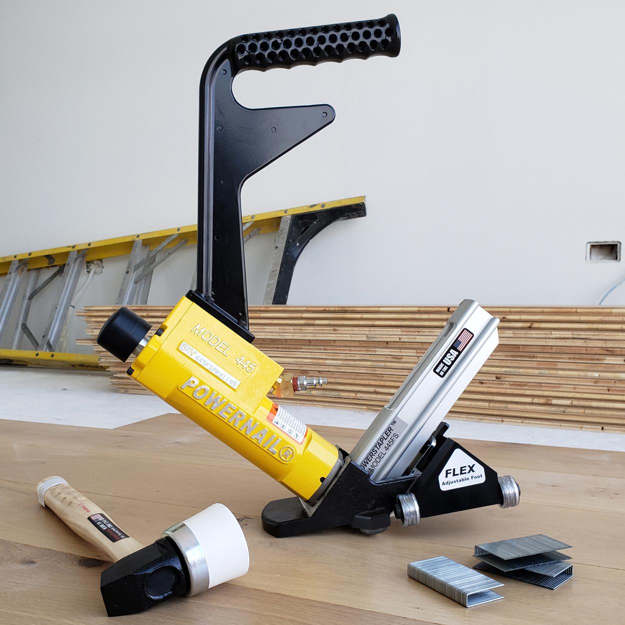 Powernail Model 445FS Power Roller 15.5 Gauge Hardwood Flooring Stapler