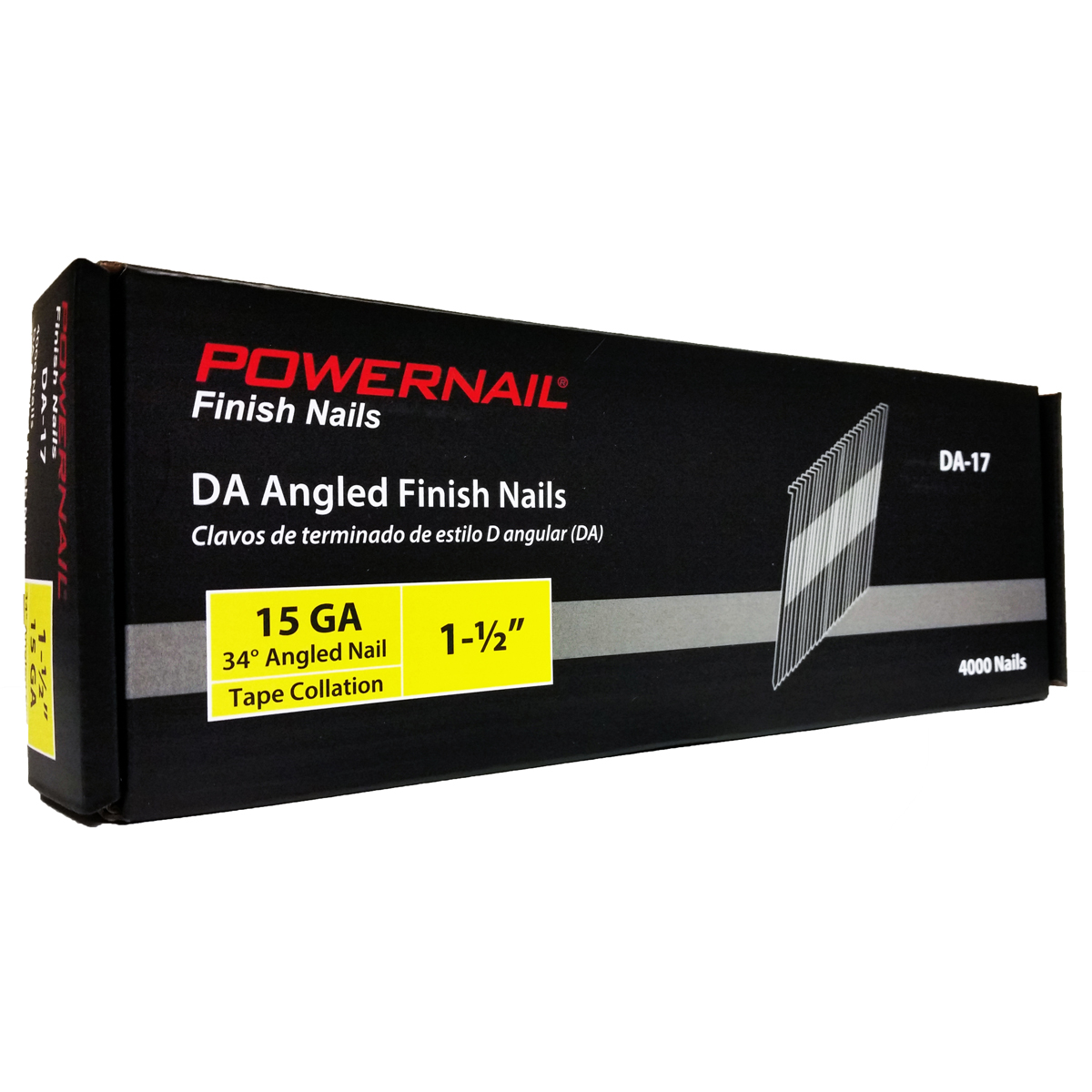 15-Gauge 34° Angled Finish Nails