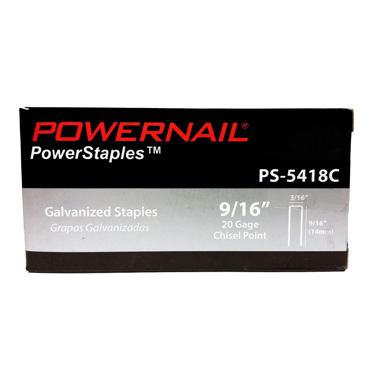 20 Ga. 3/16″ Crown PowerStaples™