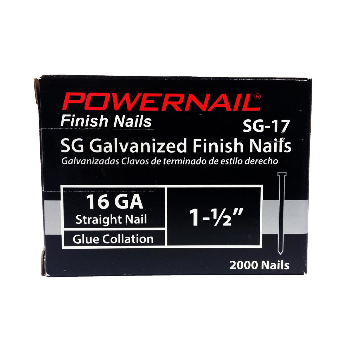 16-Gauge Straight Finish Nails