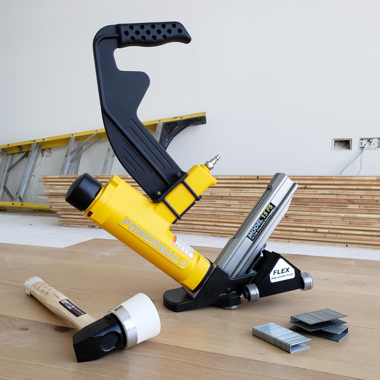 Powernail Model 15FS Power Roller 15.5-Gauge Hardwood Flooring Stapler